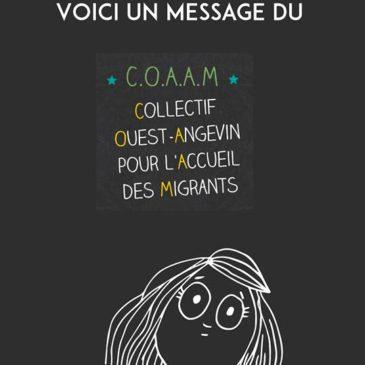 COAAM, Collectif Ouest Angevin pour l'accueil des migrants