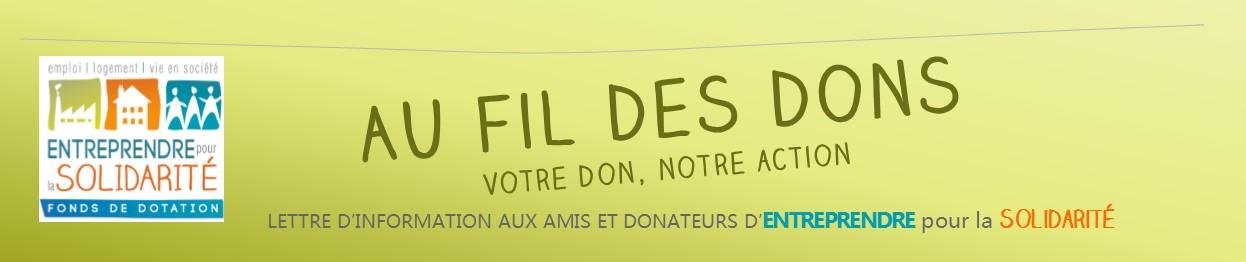 AU FIL DES DONS – Votre don, notre action