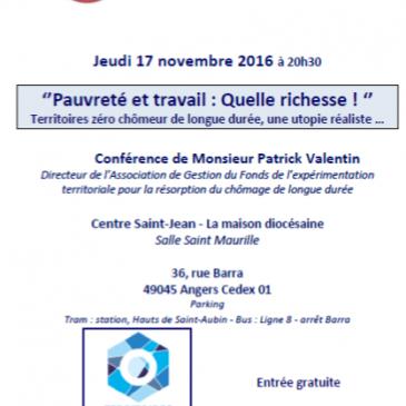 RCF Anjou : Témoignage de l'angevin Patrick Valentin, militant du droit à l'emploi