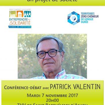 Retour sur la conférence de Patrick VALENTIN 7 novembre 2017 : gardons le contact !