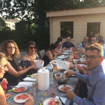Barbecue party à la maison Gallieni
