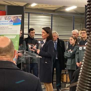 Inauguration de T'CAP-T'PRO, école de production à Saumur