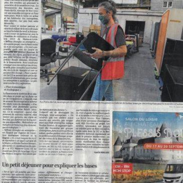 Ressourcerie des Biscottes et CCI : Article du Courrier de l'Ouest 14/09/2020
